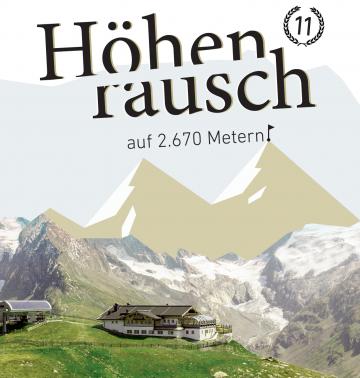 Cover Höhenreuasch11 - Berge mit Hütte und Überschrift