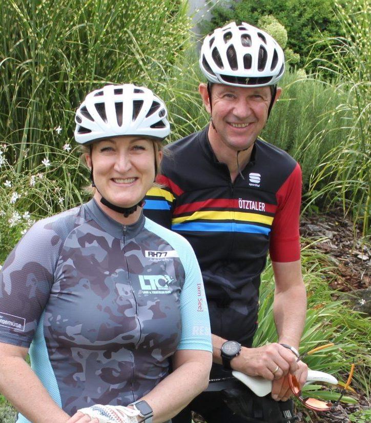 Doris und martin Scheiber mit Fahrrad